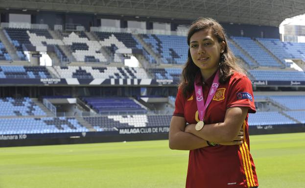Paula Fernández, esta misma semana en La Rosaleda.
