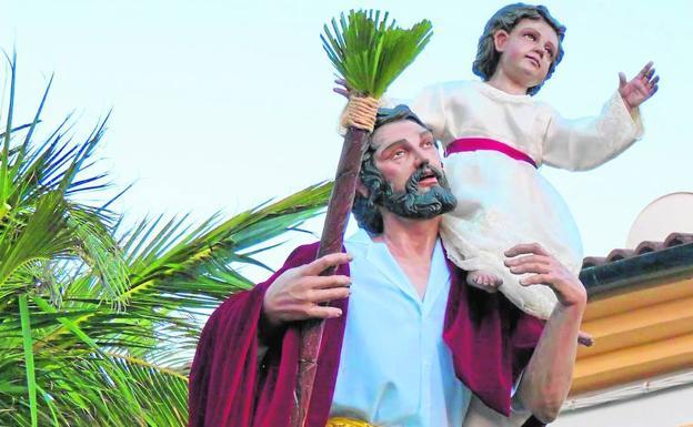 San Cristóbal, durante la procesión del año pasado.