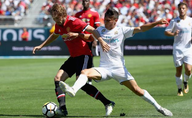 Real Madrid contra el Manchester United.