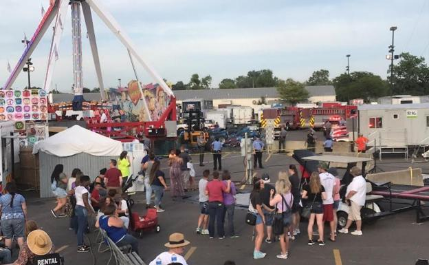 Lugar del accidente en la feria estatal de Ohio.