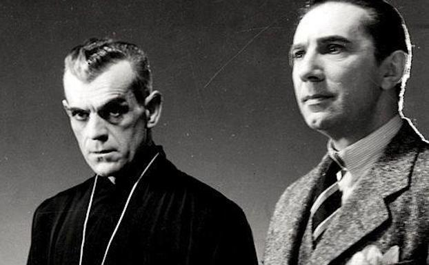 Bela Lugosi y Boris Karloff en 'The black cat' de Ulmer.