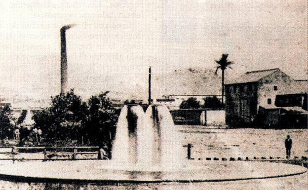Fotografía antigua del entorno en el que se ubicaban algunas de las fábricas de Heredia