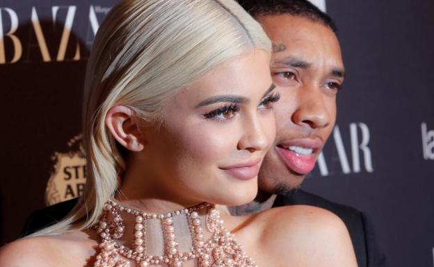 Kylie Jenner y Travis Scott. /Reuters