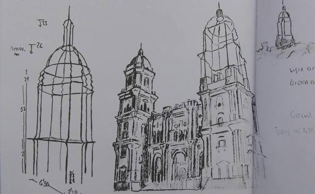 Boceto del proyecto de Juan Garaizábal. /
