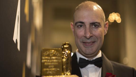 """El malagueño Marcos Fajardo recibe el Óscar técnico: """"Nunca tiré la toalla"""""""