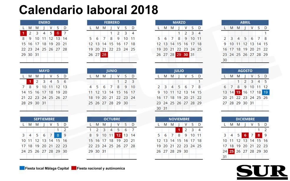 Calendario 2018 Festivos Colombia