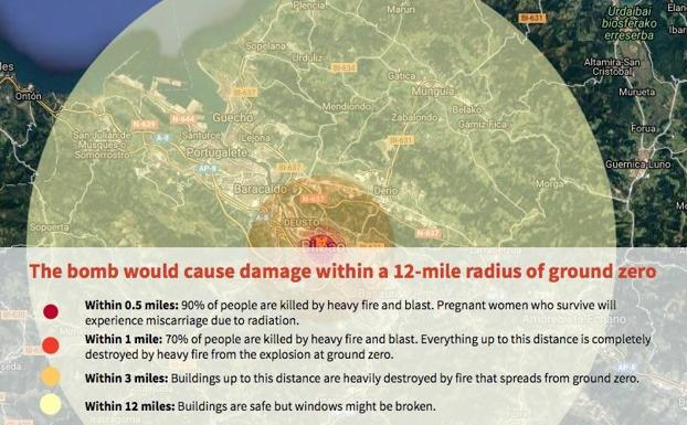 Radio explosion bomba atomica hiroshima