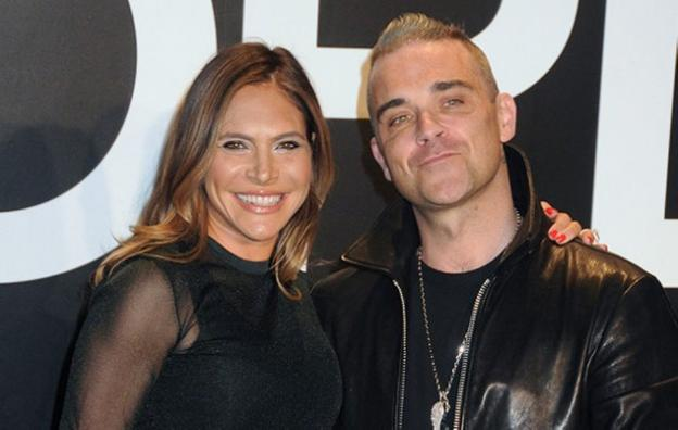 Ayda Field y Robbie Williams. /