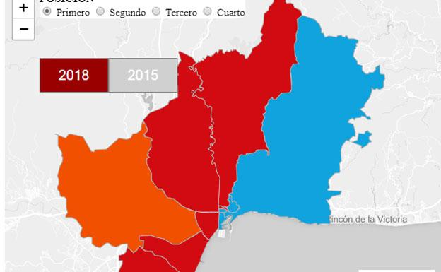 Mapa De Distritos De Malaga Capital.Mapa Interactivo De Los Resultados De Las Elecciones
