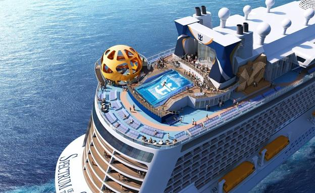Vista del 'Spectrum of the Seas', el nuevo barco de Royal Caribbean /SUR