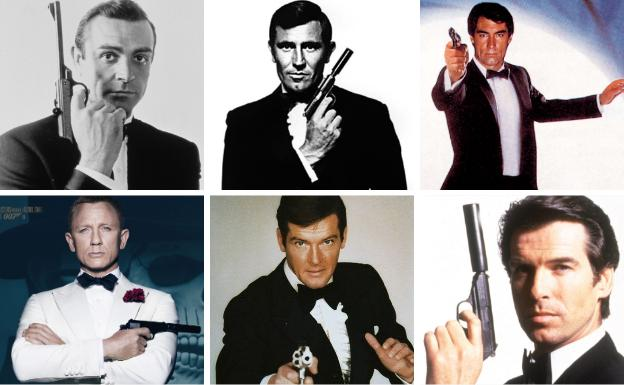 Varios actores que han encarnado a James Bond.