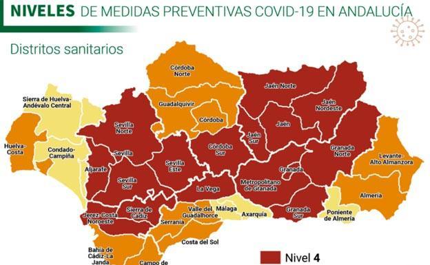 La Junta establece nuevas restricciones por niveles para todos municipios de Andalucía