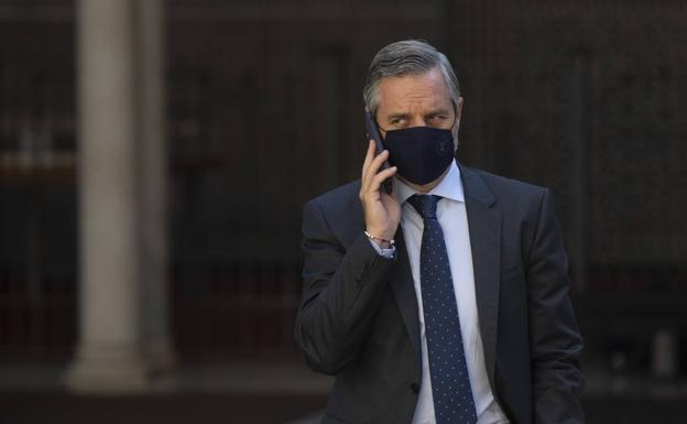 Juan Bravo, consejero de Hacienda, este miércoles en el Parlamento de Andalucía.  / María José López / Europa Press