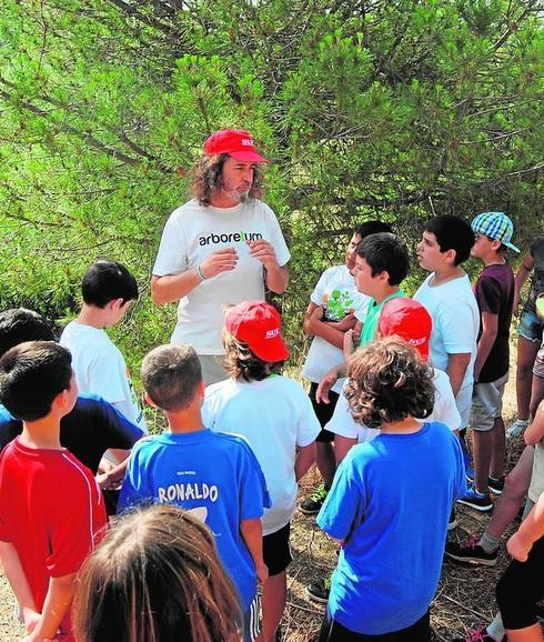 Los participantes en la actividad celebrada con motivo del Día Mundial del Medio Ambiente. /